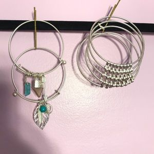 Bangles and boutique earrings